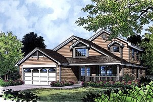 Traditional Exterior - Front Elevation Plan #417-152