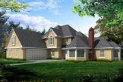 Traditional Style House Plan - 3 Beds 3 Baths 2218 Sq/Ft Plan #100-444 Exterior - Front Elevation