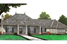 Dream House Plan - European Exterior - Front Elevation Plan #310-650