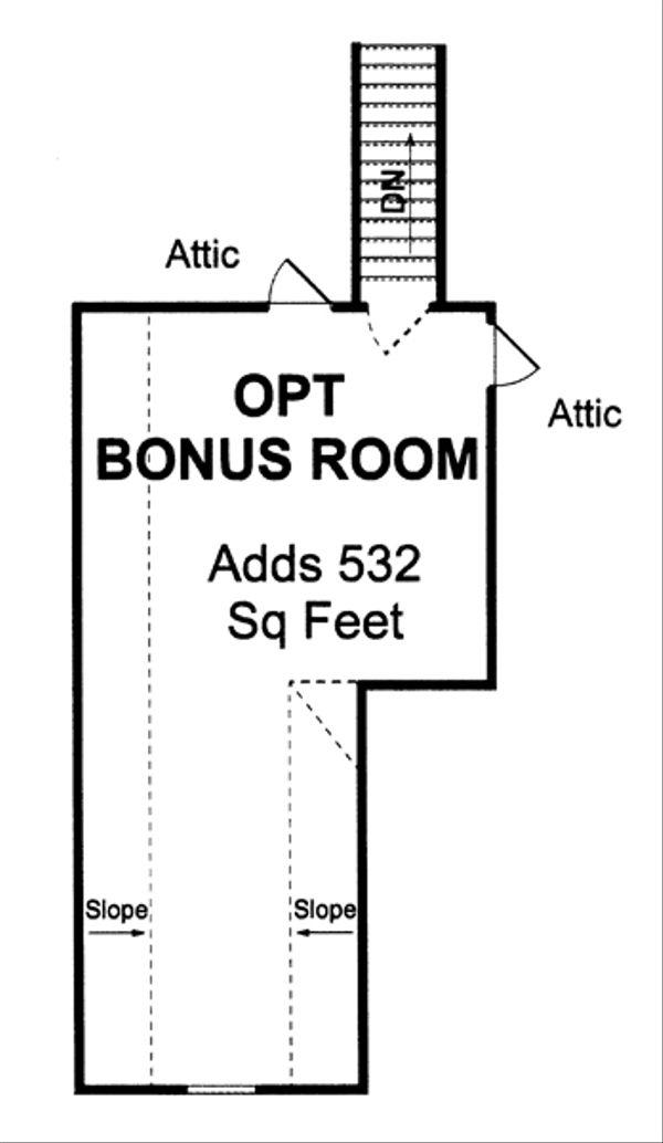 Traditional Floor Plan - Upper Floor Plan Plan #513-2045