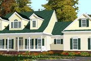 Country Style House Plan - 4 Beds 3 Baths 2649 Sq/Ft Plan #63-166 Exterior - Front Elevation