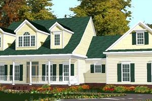 Country Exterior - Front Elevation Plan #63-166