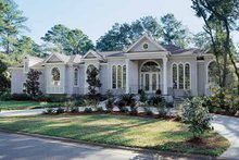 Home Plan - Mediterranean Exterior - Front Elevation Plan #54-187