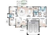 Farmhouse Style House Plan - 3 Beds 2 Baths 2117 Sq/Ft Plan #23-2723 Floor Plan - Main Floor