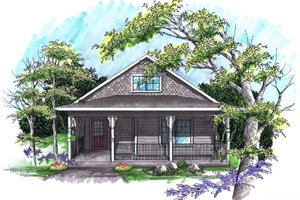 House Design - Ranch Exterior - Front Elevation Plan #70-1023
