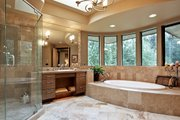 Modern Style House Plan - 4 Beds 4.5 Baths 4750 Sq/Ft Plan #132-221 Interior - Master Bathroom