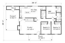 Ranch Floor Plan - Main Floor Plan Plan #22-588