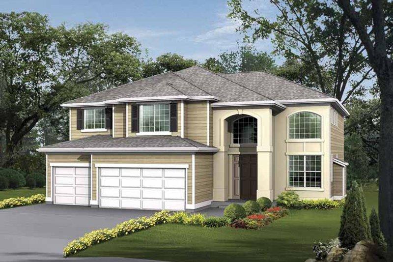 Dream House Plan - Prairie Exterior - Front Elevation Plan #132-395