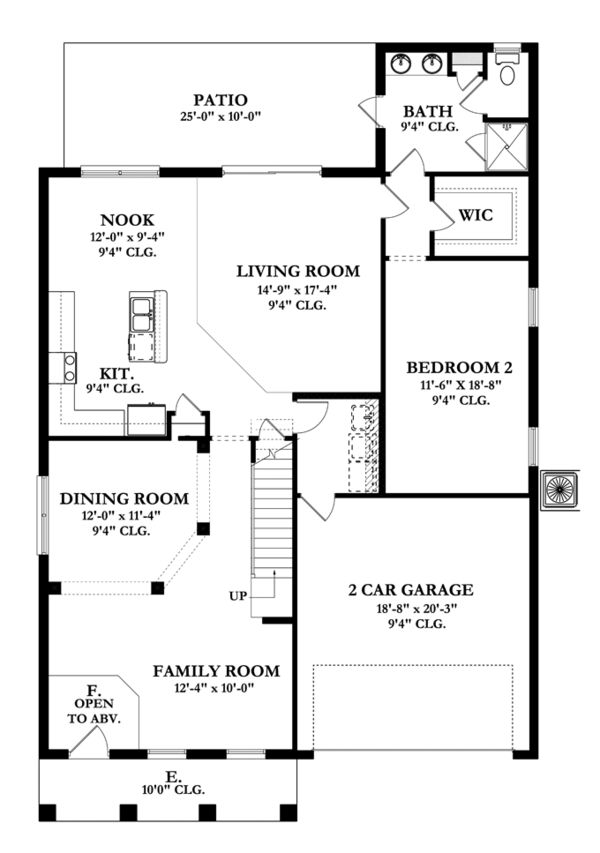 Mediterranean Floor Plan - Main Floor Plan Plan #1058-66