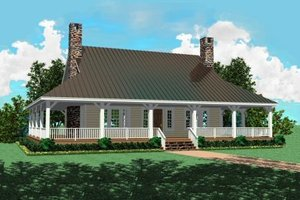 Country Exterior - Front Elevation Plan #81-101