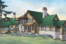 Home Plan - Log Exterior - Front Elevation Plan #928-258
