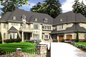 Dream House Plan - European Exterior - Front Elevation Plan #966-81
