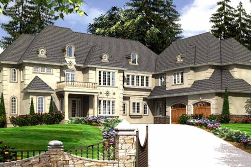 House Plan Design - European Exterior - Front Elevation Plan #966-81