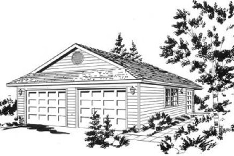 House Blueprint - Traditional Exterior - Front Elevation Plan #18-9273