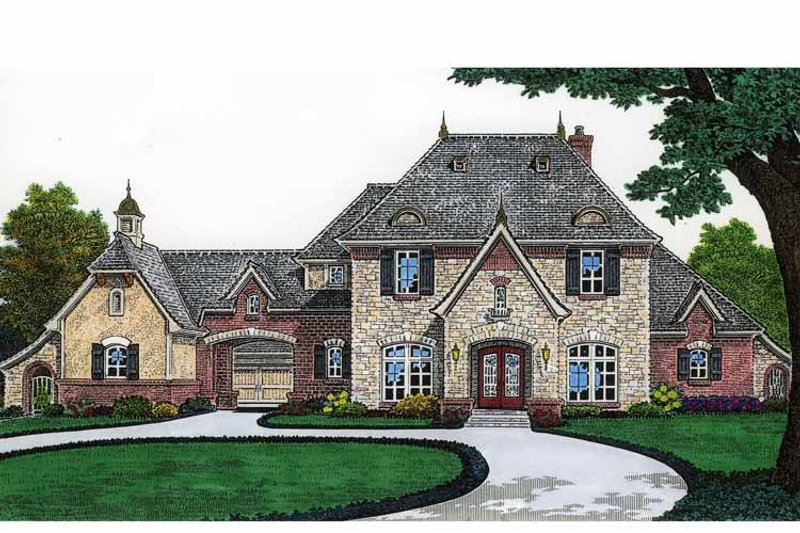 Classical Exterior - Front Elevation Plan #310-1207 - Houseplans.com
