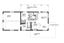 Contemporary Floor Plan - Main Floor Plan Plan #117-855