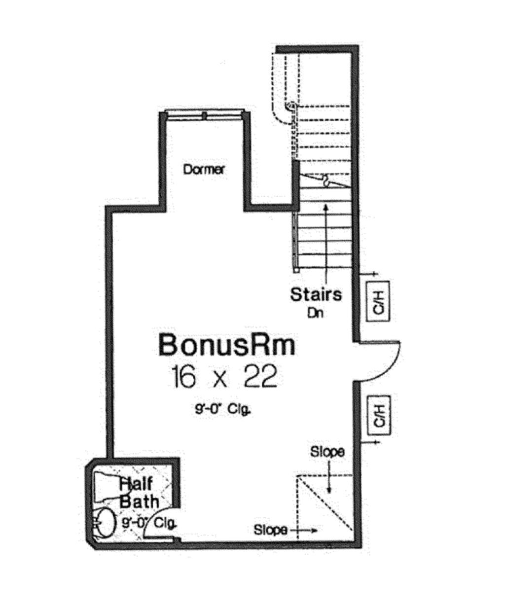 European Style House Plan 3 Beds 2 5 Baths 2370 Sq Ft