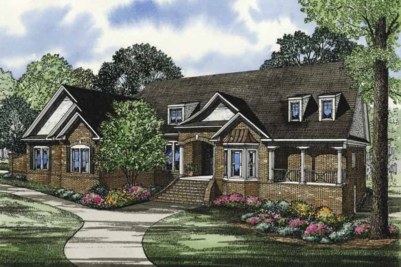 Dream House Plan - Traditional Exterior - Front Elevation Plan #17-3320