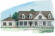 Country Style House Plan - 3 Beds 3.5 Baths 2599 Sq/Ft Plan #1054-1 Exterior - Front Elevation