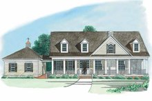 Country Exterior - Front Elevation Plan #1054-1