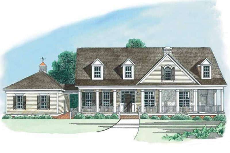 Home Plan - Country Exterior - Front Elevation Plan #1054-1