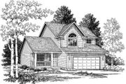 Traditional Style House Plan - 3 Beds 2.5 Baths 1189 Sq/Ft Plan #334-115 Exterior - Front Elevation