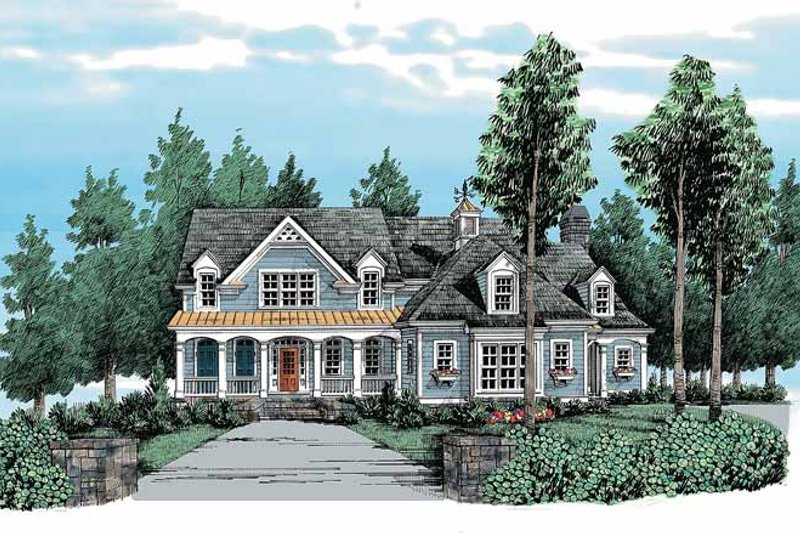 Country Exterior - Front Elevation Plan #927-316