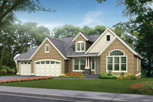 House Plan Design - Craftsman Exterior - Front Elevation Plan #132-342