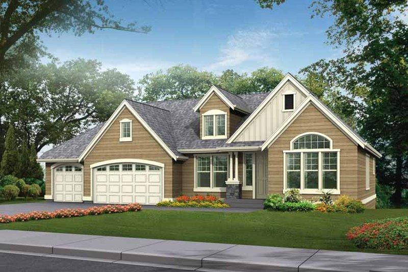 Home Plan - Craftsman Exterior - Front Elevation Plan #132-342
