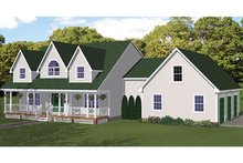 Colonial Exterior - Front Elevation Plan #1061-4