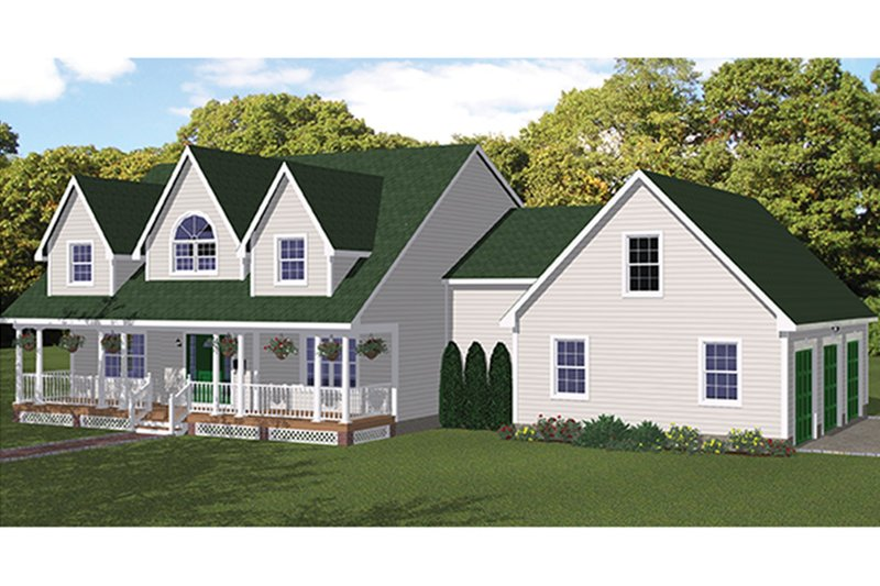 Colonial Exterior - Front Elevation Plan #1061-4 - Houseplans.com