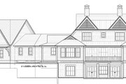 Country Style House Plan - 4 Beds 3.5 Baths 3829 Sq/Ft Plan #928-294 Exterior - Rear Elevation