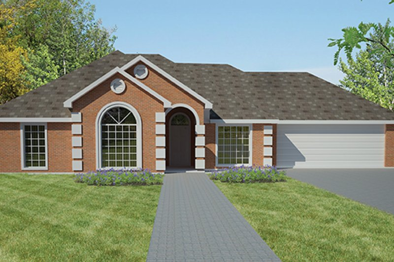Traditional Exterior - Front Elevation Plan #1061-9 - Houseplans.com