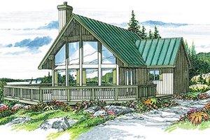Modern Exterior - Front Elevation Plan #47-310