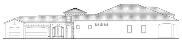 Mediterranean Floor Plan - Other Floor Plan Plan #930-444