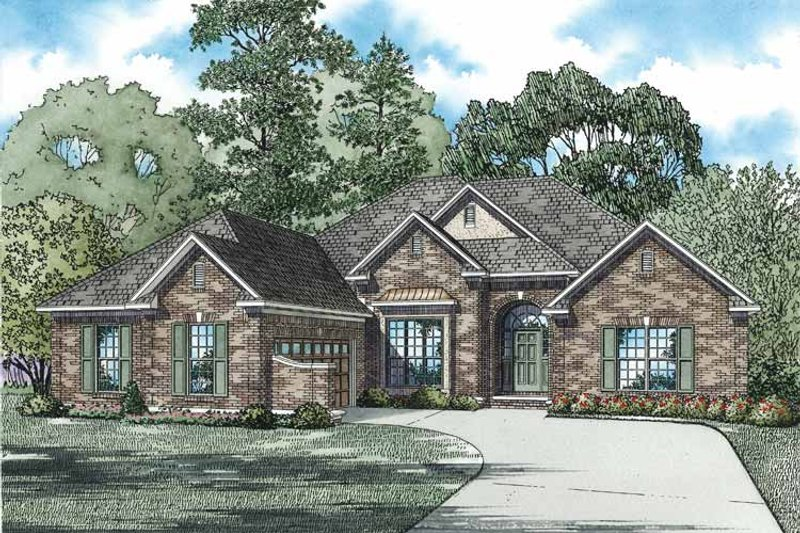 Ranch Exterior - Front Elevation Plan #17-2800 - Houseplans.com