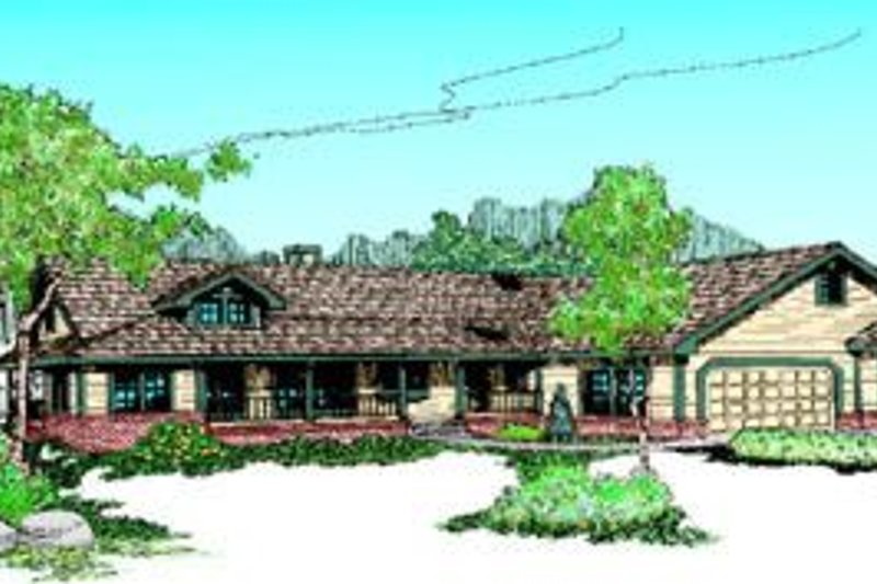 Dream House Plan - Ranch Exterior - Front Elevation Plan #60-214