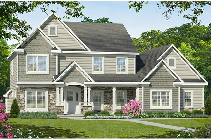 Traditional Exterior - Front Elevation Plan #1010-186 - Houseplans.com