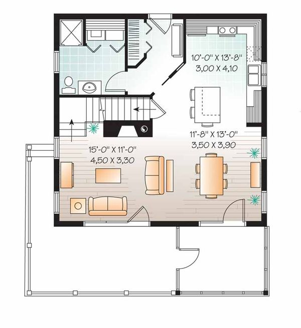 House Plan Design - European Floor Plan - Main Floor Plan #23-2486