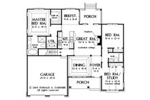 Traditional Floor Plan - Main Floor Plan Plan #929-58
