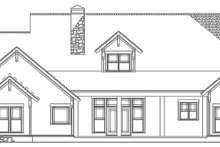 House Plan Design - Country Exterior - Rear Elevation Plan #17-3315