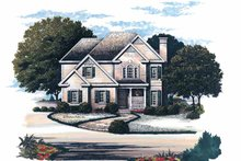 Colonial Exterior - Front Elevation Plan #429-152