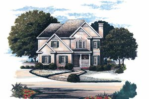 Architectural House Design - Colonial Exterior - Front Elevation Plan #429-152