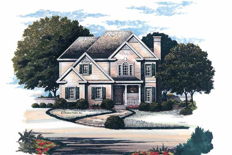 House Plan Design - Colonial Exterior - Front Elevation Plan #429-152