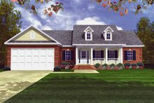Country Exterior - Front Elevation Plan #21-404