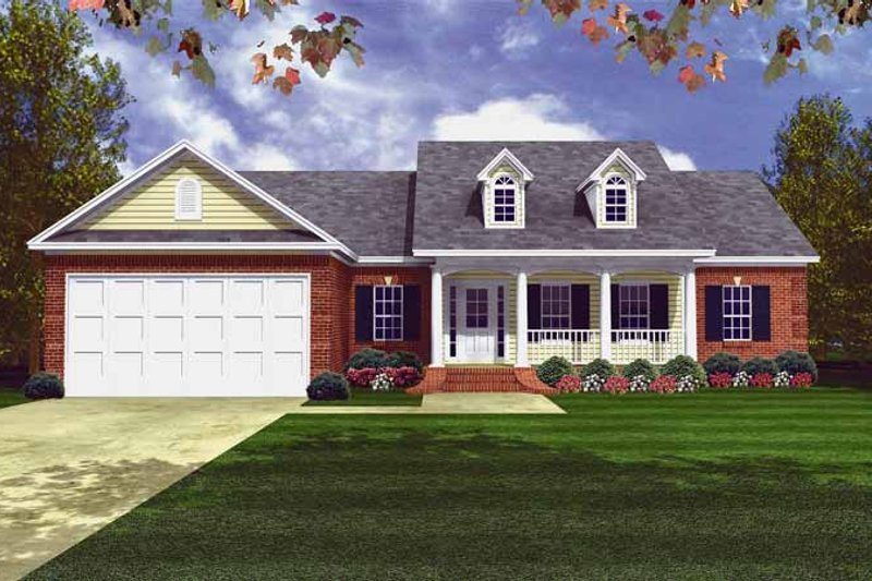 House Plan Design - Country Exterior - Front Elevation Plan #21-404