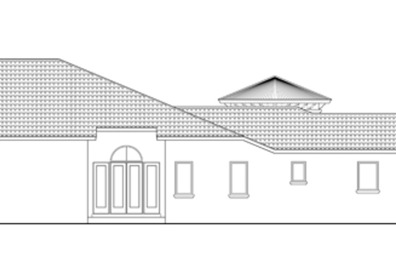 Mediterranean Exterior - Other Elevation Plan #930-444 - Houseplans.com
