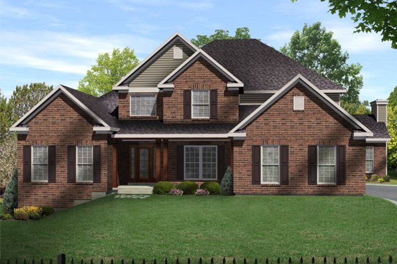 Home Plan - Traditional Exterior - Front Elevation Plan #22-214