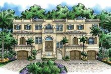 Home Plan - Mediterranean Exterior - Front Elevation Plan #1017-47