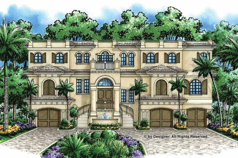 Mediterranean Exterior - Front Elevation Plan #1017-47 - Houseplans.com